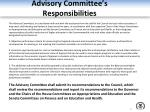 advisory committee s responsibilities4