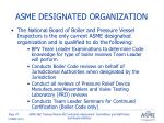 asme designated organization1
