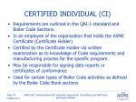 certified individual ci