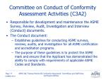 committee on conduct of conformity assessment activities c3a2