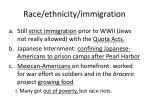 race ethnicity immigration