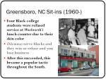 greensboro nc sit ins 1960