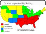 states impacted by ruling