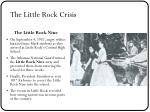 the little rock crisis