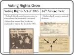voting rights grow