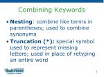 combining keywords