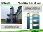 fiberight low solids a d plant