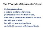 the 2 nd article of the apostles creed3