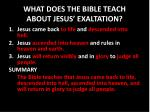 what does the bible teach about jesus exaltation