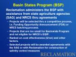 basin states program bsp