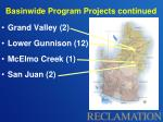 basinwide program projects continued