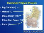 basinwide program projects