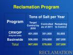 reclamation program