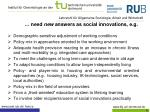 need new answers as social innovations e g