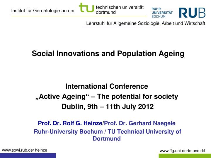 social innovations and population ageing n.