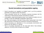 social innovations and population ageing1