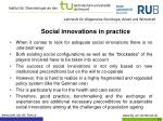 social innovations in practice