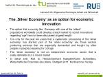 the silver economy as an option for economic innovation