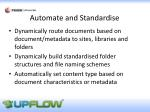 automate and standardise