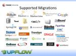 supported migrations