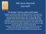 did jesus descend into hell2