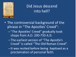 did jesus descend into hell3