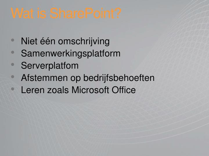 Wat is SharePoint?