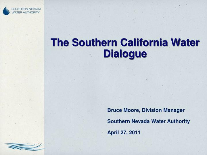 the southern california water dialogue n.