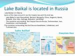 lake baikal is located in russia