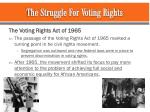 the struggle for voting rights1