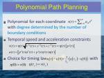 polynomial path planning1