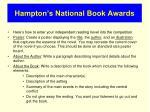 hampton s national book awards