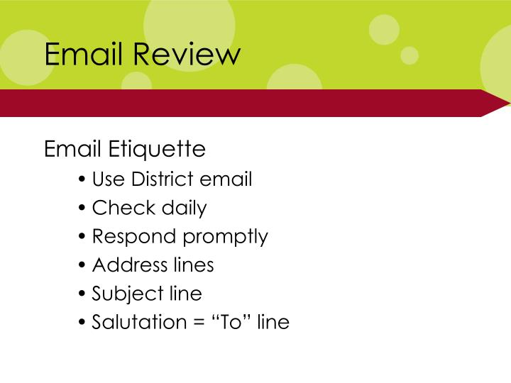 email review n.