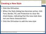 creating a new style1
