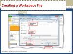 creating a workspace file1