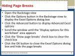 hiding page breaks