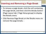 inserting and removing a page break1