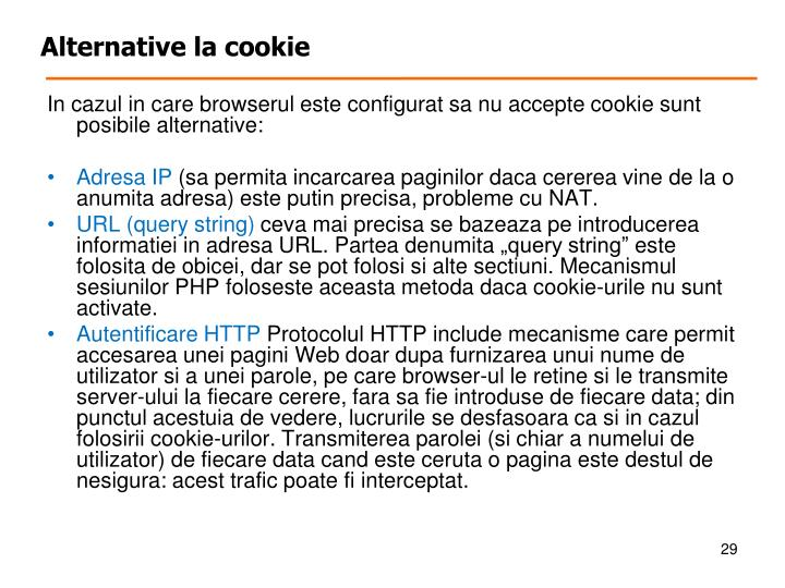 Alternative la cookie