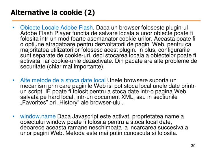 Alternative la cookie (2)