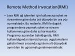 remote method invocation rmi2