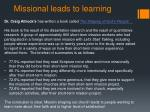 missional leads to learning