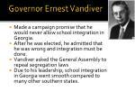 governor ernest vandiver