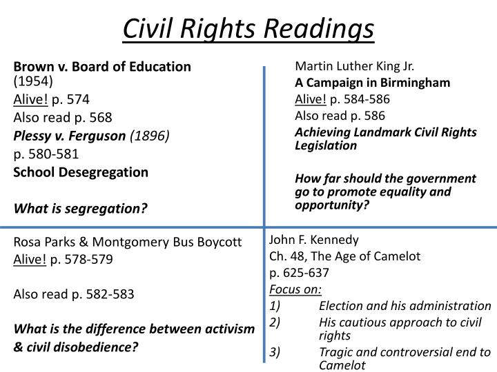 civil rights readings n.