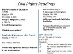 civil rights readings