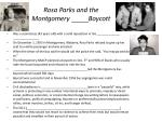 rosa parks and the montgomery boycott