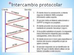 intercambio protocolar