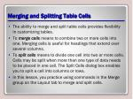 merging and splitting table cells