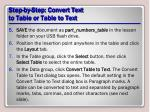 step by step convert text to table or table to text3