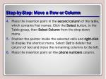 step by step move a row or column1