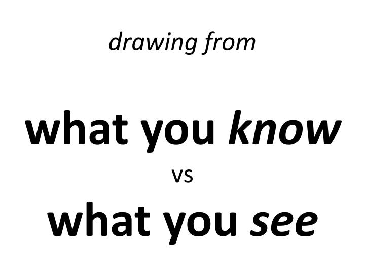 d rawing from w hat you know vs w hat you see n.